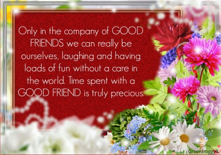 GOOD FRIEND - COMMENT, FRIEND, GOOD, CARD