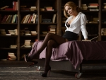 Ekaterina Zueva as a red headed librarian