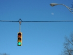 Traffic Light & Moon
