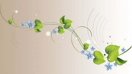 Blue Flower Vine - Firefox theme, vine, design, blossoms, summer, flowers, soft, spring
