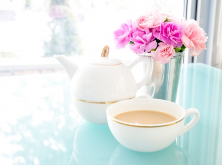 Tea Time - milk, tea, sugar, high, cup, noon