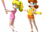 Peach and Daisy Baseball