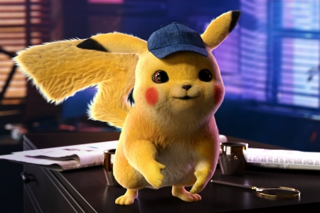 Pokemon Detective Pikachu (2019) - fantasy, pokemon, movie, yellow, detective pikachu, pikachu