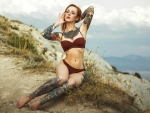 Tattooed Bikini Model ~ Yana Sinner
