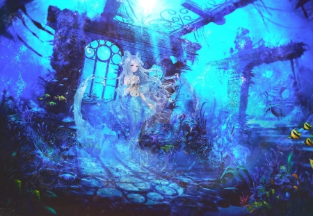 Love Nikki - mermaid, game, undersea, love nikki, nikki, miracle nikki, pretty, cg, fantasy, girl