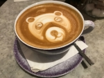 Cappuccino Coffee Art Bear London England