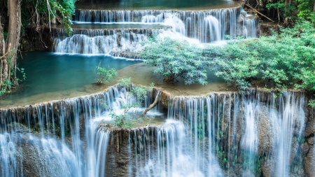 Most beautiful waterfalls - green, HD, waterfall, nature, blue, pretty, stunning, excellence, water, photography, beauty