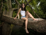 Model Posing in a Forest