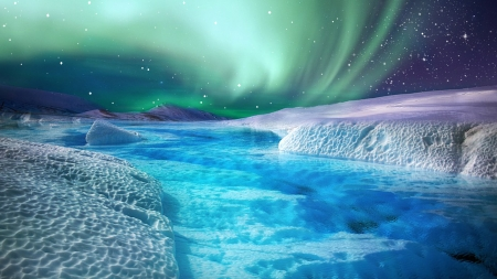 Northern Lights - Firefox theme, north, northern lights, bright, ice, aurora borealis, sky, cold