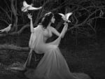 Ethereal Lady With Doves