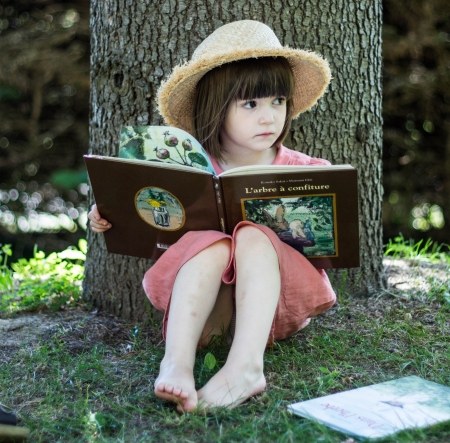 Little girl - people, beauty, child, face, pink, bonny, Belle, lovely, leg, comely, pure, blonde, baby, hat, sit, cute, tree, girl, feet, summer, childhood, white, pretty, grass, book, adorable, sweet, sightly, nice, wallpaper, Hair, little, DesktopNexus, beautiful, dainty, kid, photography, fair, green, barefoot, princess, outdoor