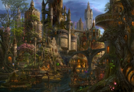 ENCHANTED CITY - VILLAGE, ENCHANTMENT, CITY, BEAUTIFUL