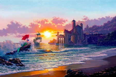 The Little Mermaid Fantasy Abstract Background