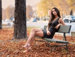 Nicole on a Bench