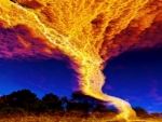 Photo Showed  Created Storm And Fire