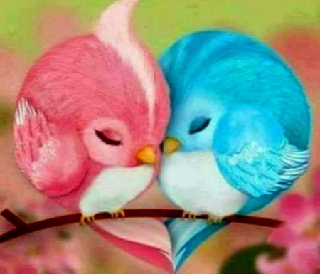 Love Birds Fantasy Abstract Background Wallpapers On Desktop Nexus Image 2487259