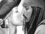 Keira Knightley and Johnny Depp ~ Elizabeth Swann and Captain Sparrow