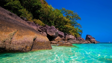 PARADISE - rocks, nature, paradise, sea