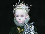 Little princess with owl