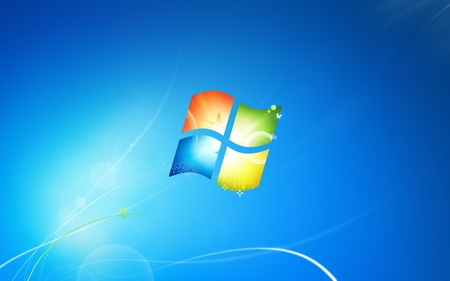Windows 7 Standard Wallpaper - red, standard, 7, yellow, waves, energy, windows, green, wallpaper, seven, desktop, light, blue