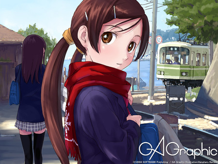 ga_graphic wallpaper - girl, anime