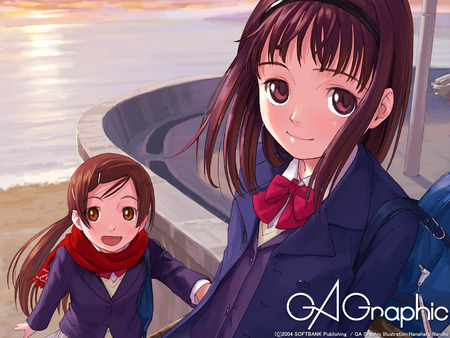 ga_graphic wallpaper - girls, anime