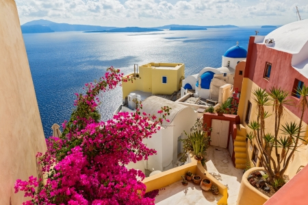 Santorini Greece Other Abstract Background Wallpapers
