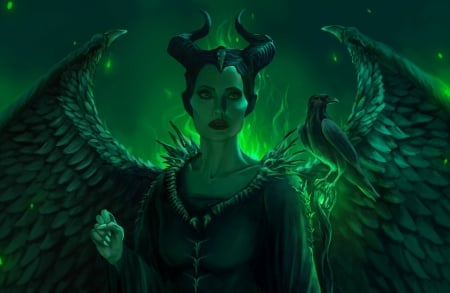 Maleficent Fantasy Abstract Background Wallpapers On