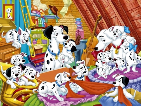 One Hundred And One Dalmatians 1961 Movies Entertainment Background Wallpapers On Desktop Nexus Image 2490496