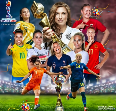 2019 Fifa Womens World Cup Soccer Sports Background