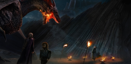 A very small man can cast a very large shadow - tyrion, daenerys targaryen, dwarf, dragon, varys, art, game of thrones, mad queen, fire, fantasy, dracarys, ertac altinoz