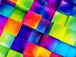 Bright Colored Cubes