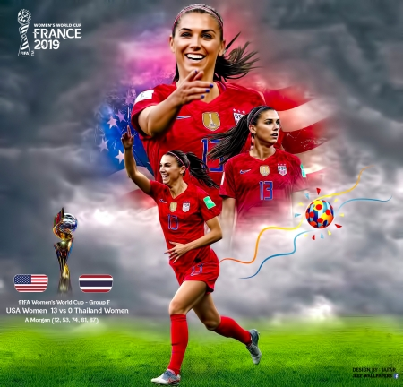 Alex Morgan - usa, united states, soccer, alex morgan, world cup, thailand, american