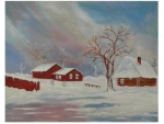 winter oil painting painted by Saad kilo