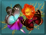 BUTTERFLIES AND FLOWERS