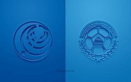 Costa Rica Vs Nicaragua Soccer Sports Background