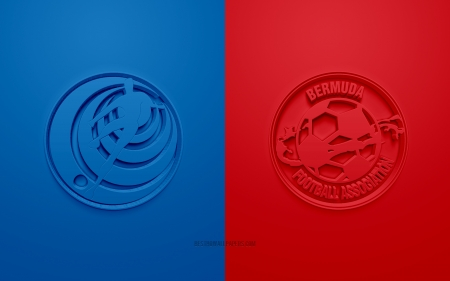 Costa Rica Vs Bermuda Soccer Sports Background