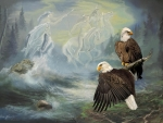 Eagles and Native American Spirit Riders
