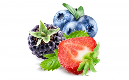 Berries - fruit, red, berry, strawberry, blackberry, blueberry, white, blue, capsune