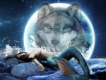 Mermaid and a Wolf Moon