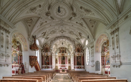 Church in Germany - inside, interior, Christianity, church