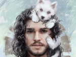 Jon Snow and little Ghost