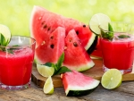 Watermelon and Juice Lime Glasses