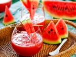 Watermelon And Juice with Glass