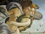The Birth of Venus (detail) ~ Zephyr and Chloris