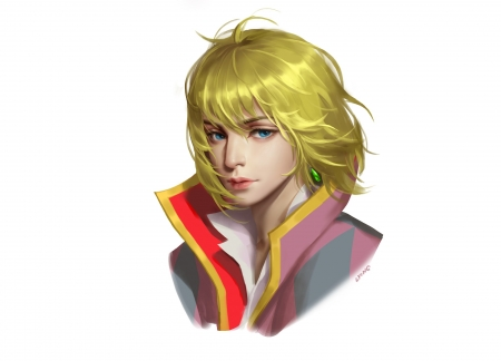 Howl - man, face, howl, howls moving castle, blond, luminos, manga, fantasy, liu laurie, anime, handsome, portrait