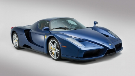 Blue Enzo - supercar, blue enzo, cars, ferrai