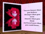 Red Rose Card with Quote #2