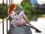 Redhead in her Summer Dress
