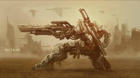 Delta X4 XOKS Machinery - cyborg, fantasy, futuristic, illustration